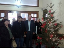 Στολισμός χριστουγεννιάτικου δέντρου Δημαρχείου Προσοτσάνης Δράμας