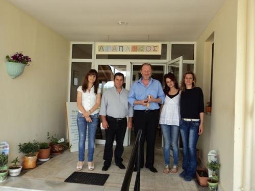 Επίσκεψη Δημάρχου Προσοτσάνης στο οικοτροφείο μας