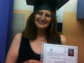 Αποφοίτηση φιλοξενούμενης από το Σχολείο Δεύτερης Ευκαιρίας